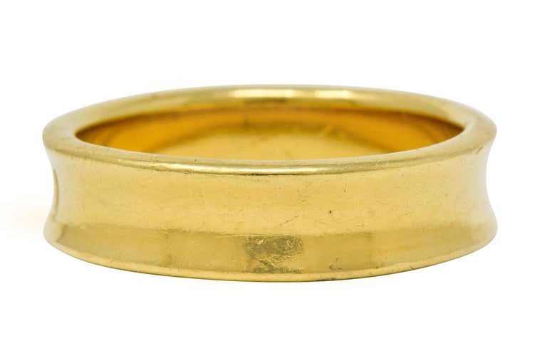 Tiffany & Co. Vintage 18 Karat Gold Unisex 1837 Band Ring In Excellent Condition For Sale In Philadelphia, PA