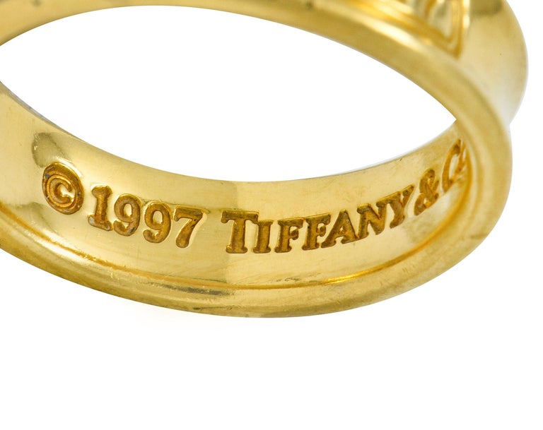Tiffany & Co. Vintage 18 Karat Gold Unisex 1837 Band Ring For Sale 2