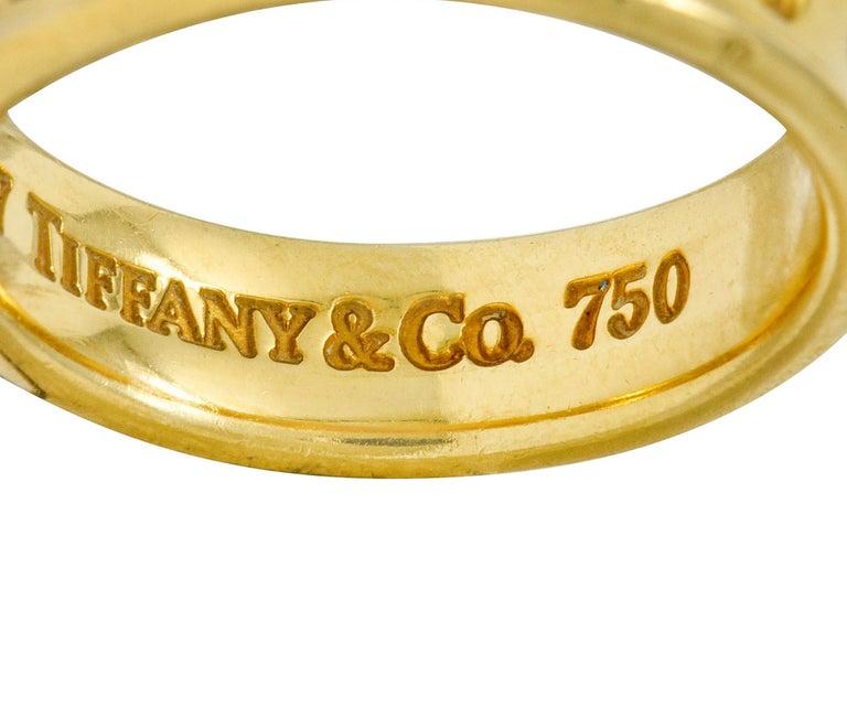 Tiffany & Co. Vintage 18 Karat Gold Unisex 1837 Band Ring For Sale 3