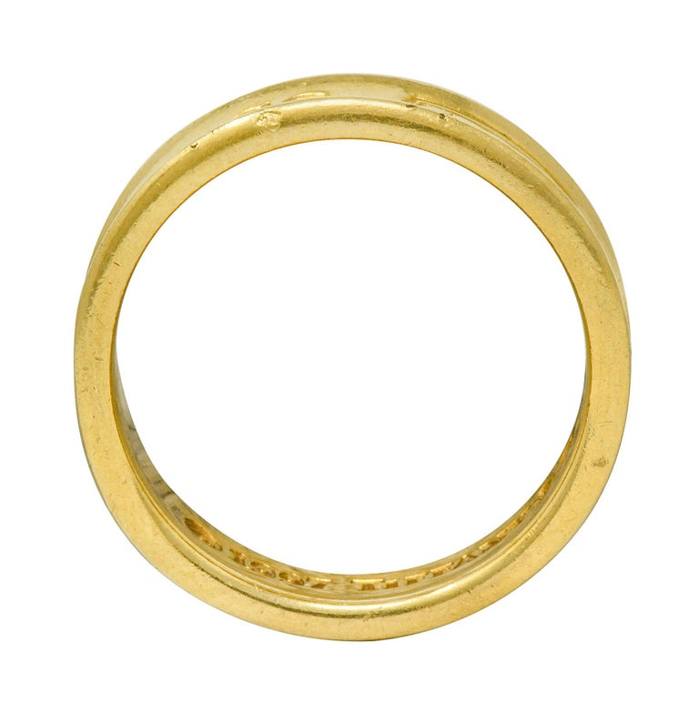 Tiffany & Co. Vintage 18 Karat Gold Unisex 1837 Band Ring For Sale 4