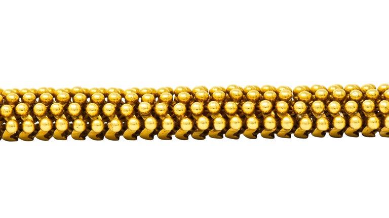 Tiffany & Co. Vintage 18 Karat Yellow Gold Beaded Link Bracelet 5