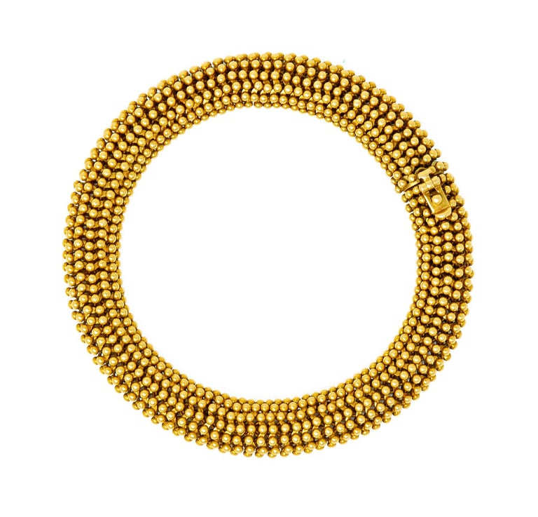 Tiffany & Co. Vintage 18 Karat Yellow Gold Beaded Link Bracelet 7