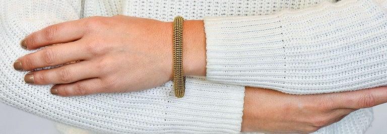 Tiffany & Co. Vintage 18 Karat Yellow Gold Beaded Link Bracelet 9