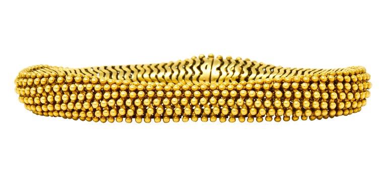Contemporary Tiffany & Co. Vintage 18 Karat Yellow Gold Beaded Link Bracelet