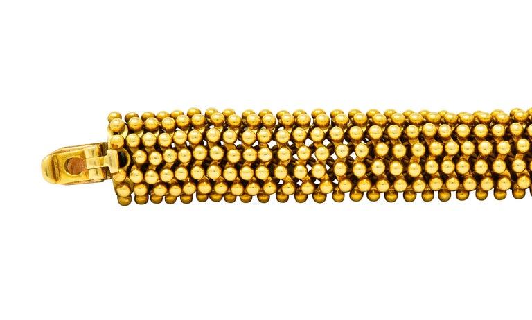 Women's or Men's Tiffany & Co. Vintage 18 Karat Yellow Gold Beaded Link Bracelet