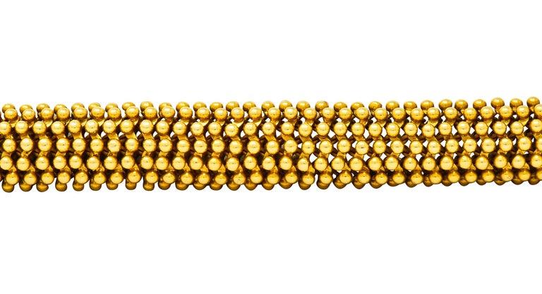 Tiffany & Co. Vintage 18 Karat Yellow Gold Beaded Link Bracelet 1