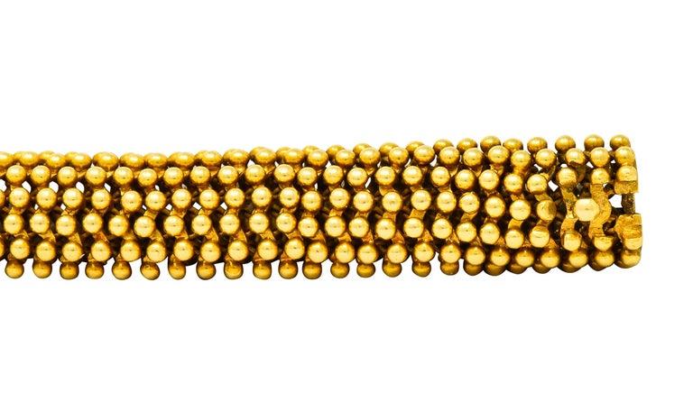Tiffany & Co. Vintage 18 Karat Yellow Gold Beaded Link Bracelet 2
