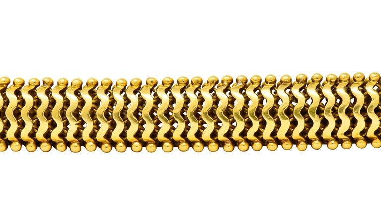 Tiffany & Co. Vintage 18 Karat Yellow Gold Beaded Link Bracelet 3