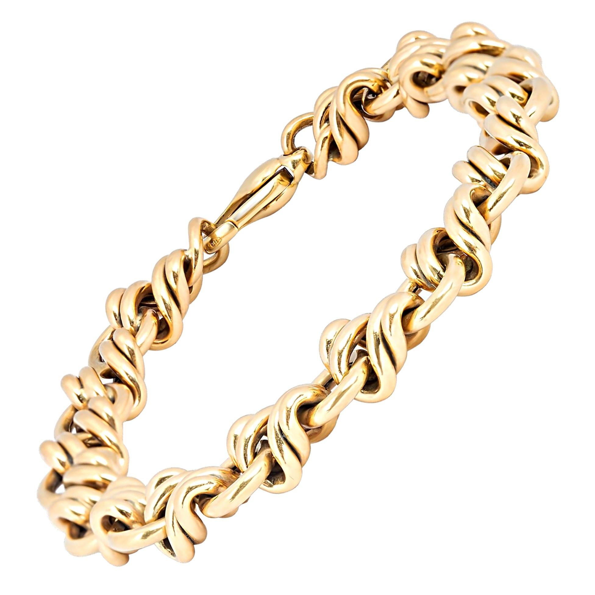 Tiffany & Co. Vintage 18 Karat Yellow Gold Knot Bracelet