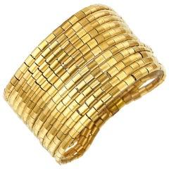 Tiffany & Co. Vintage 18 Karat Yellow Gold Multi-Strand Bracelet, circa 1970s