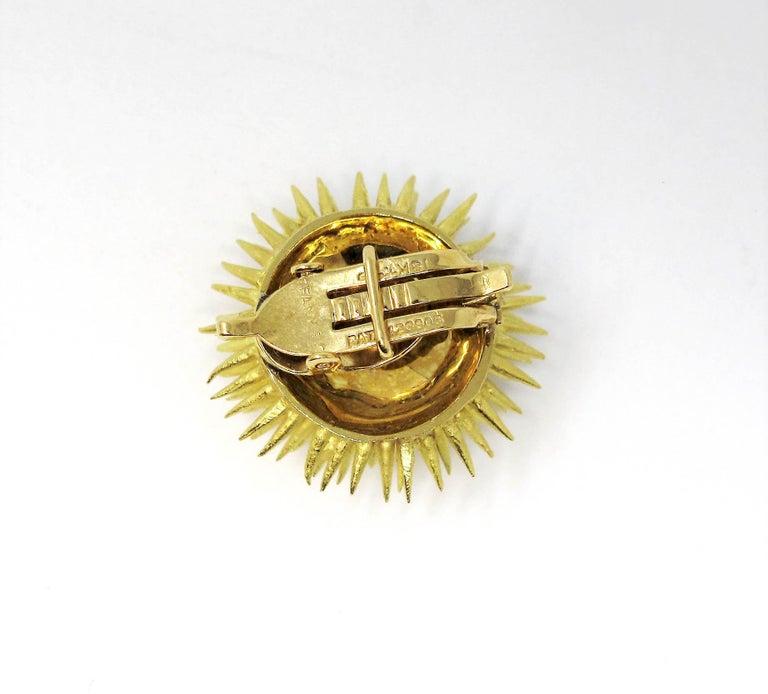 Tiffany & Co. Vintage 18 Karat Yellow Gold Sea Urchin Dome Non-Pierced Earrings For Sale 4