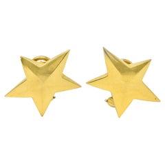 Tiffany & Co. Vintage 18 Karat Yellow Gold Star Earrings