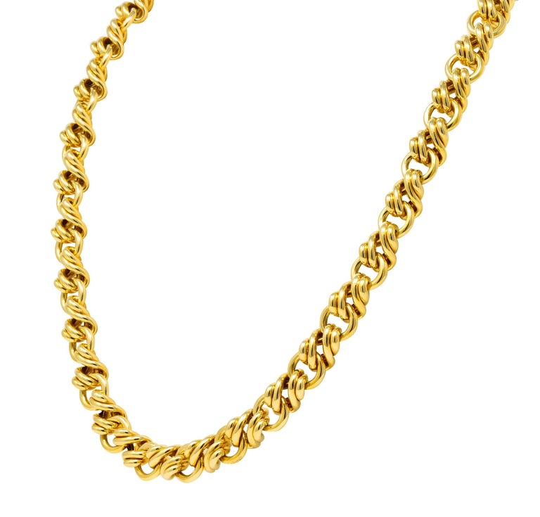 Contemporary Tiffany & Co. Vintage 18 Karat Yellow Gold Substantially Linked Chain Necklace For Sale