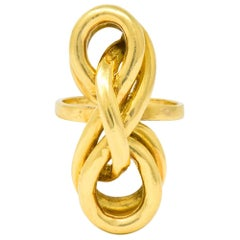 Tiffany & Co. Vintage 18 Karat Yellow Gold Twisted Ring