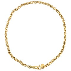 Tiffany & Co. Vintage 18 Karat Yellow Gold Watch Chain