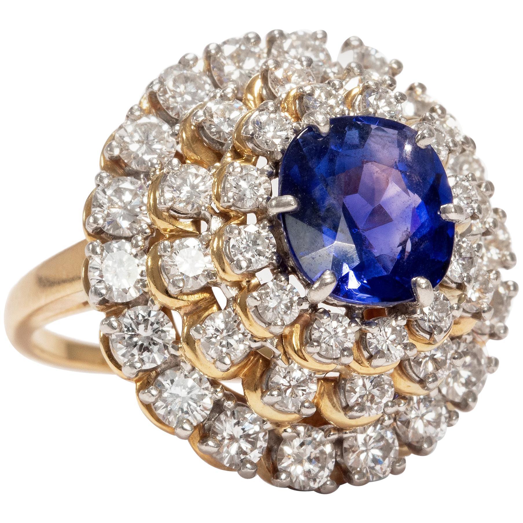 Grand 1 ct Baguette Diamant Statement Ring silver Sz 6 Naturel Véritable