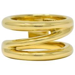 Tiffany & Co. Vintage 1990s 18 Karat Gold Zig Zag Band Ring