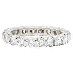 Tiffany & Co. Vintage 2.20 Carat Diamond Platinum Eternity Stacking Band Ring