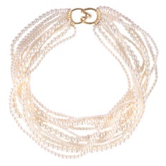 Tiffany & Co. Vintage Akoya Pearl Multi Strand Necklace