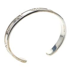 Tiffany & Co. Vintage Atlas Silver Open Cuff Bracelet 15 cm