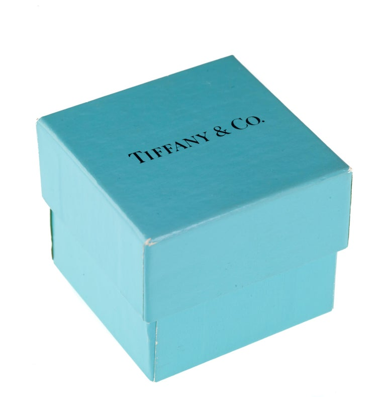 Baguette Cut Tiffany & Co. Vintage Baguette Sapphire Ring in Yellow Gold with Box For Sale