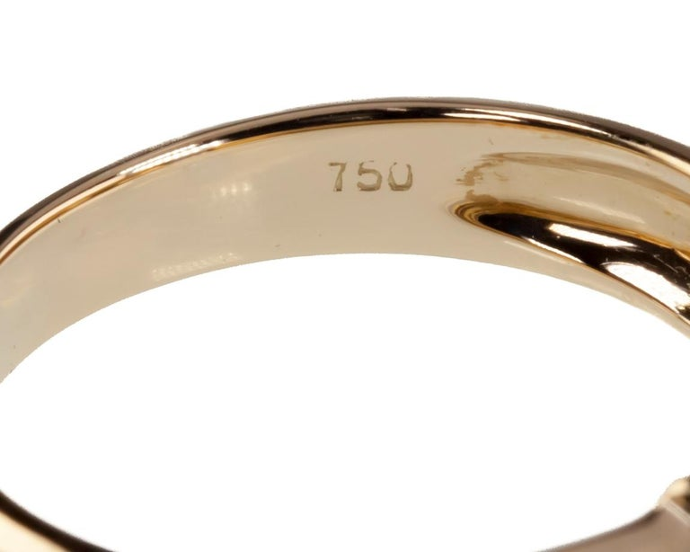 Tiffany & Co. Vintage Baguette Sapphire Ring in Yellow Gold with Box For Sale 2