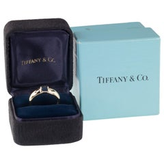 Tiffany & Co. Vintage Baguette Sapphire Ring in Yellow Gold with Box