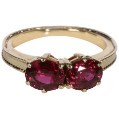 Tiffany & Co. Vintage Double Ruby Ring in 18 Karat Yellow Gold