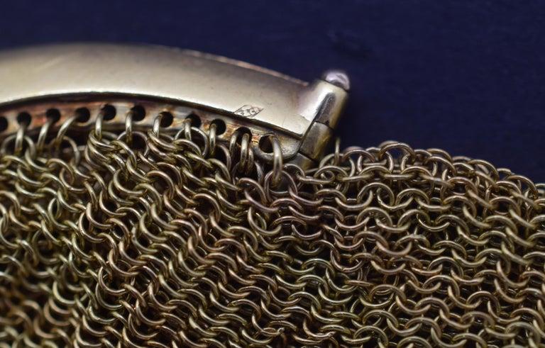 Tiffany & Co. Vintage Mesh Purse 18 Karat Yellow Gold For Sale 1