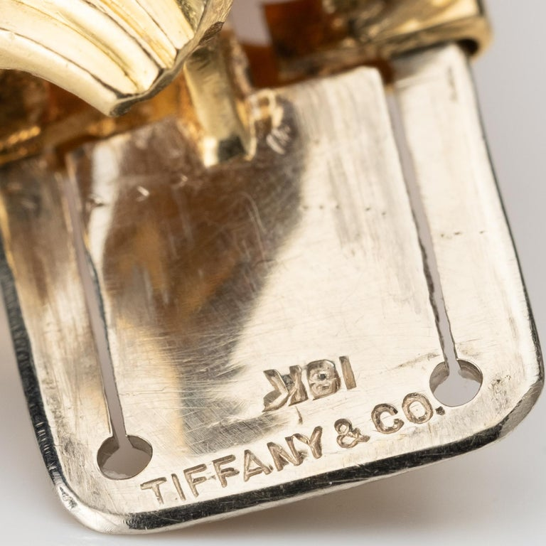 Tiffany & Co VintageRuby, Diamond, and 18k Gold Bracelet In Good Condition For Sale In Hudson, NY