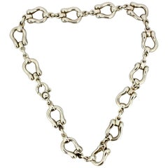 Tiffany & Co., Vintage Sterling Silver Chain Necklace, Italy, 1980s