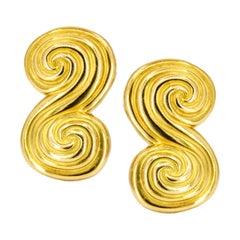 Tiffany & Co. Vintage Swirl Earrings in 18 Karat Yellow Gold