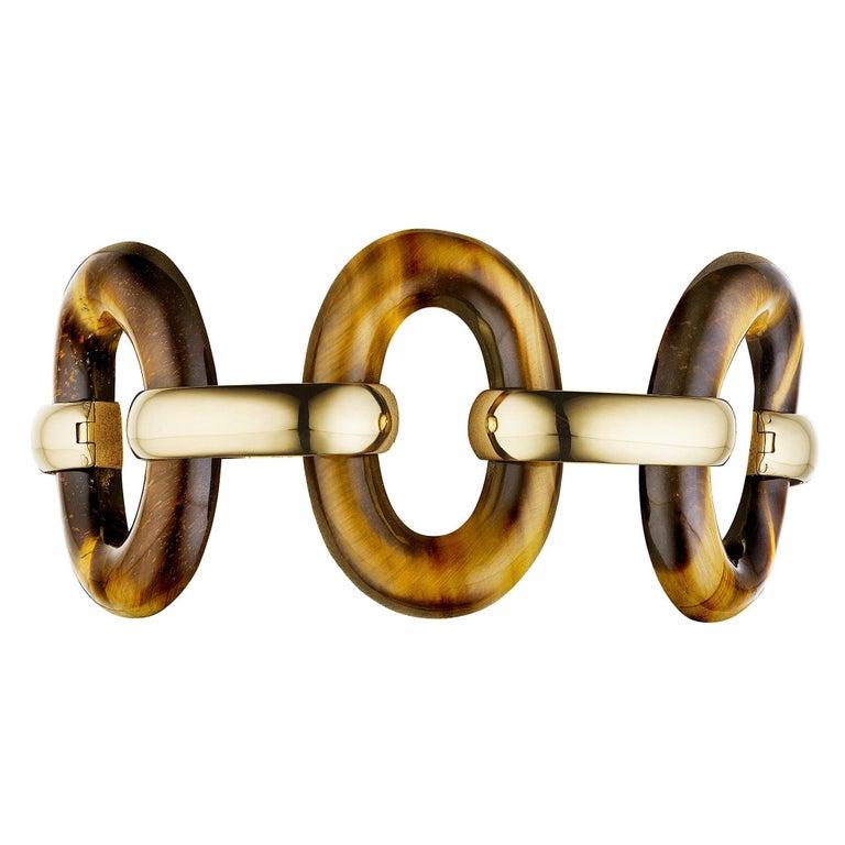 Tiffany & Co. Vintage Tigers Eye Gold Bracelet  For Sale