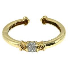 Tiffany & Co. Vintage Yellow Gold Diamond Bangle Bracelet