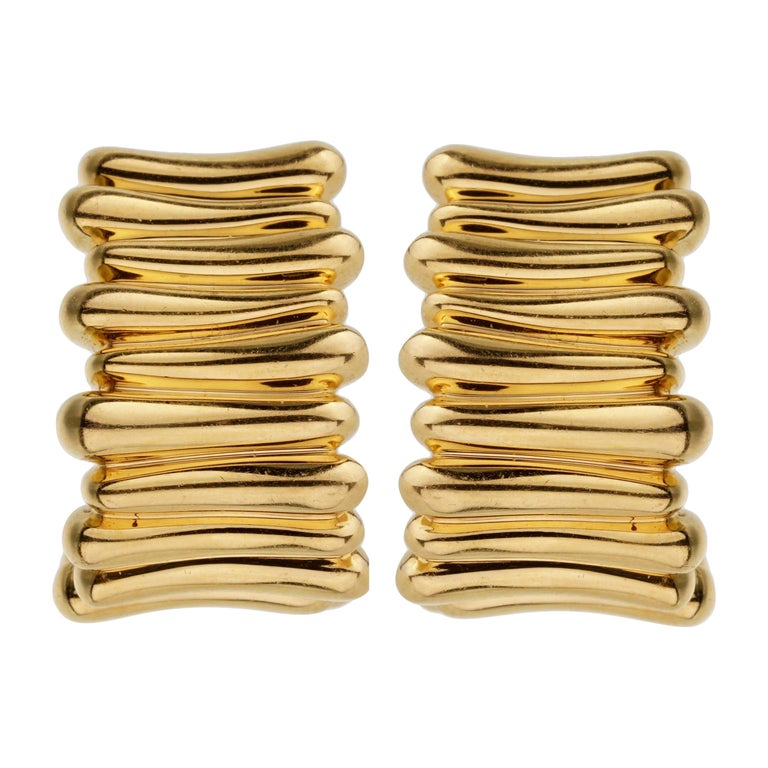 Tiffany & Co Vintage Yellow Gold Earrings For Sale