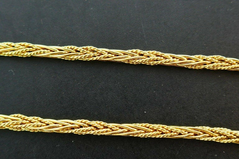 Tiffany & Co. Vintage Yellow Gold Wheat Chain Necklace For Sale 1