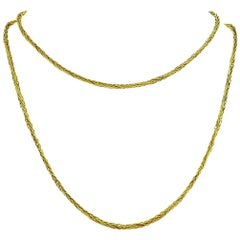 Tiffany & Co. Vintage Yellow Gold Wheat Chain Necklace
