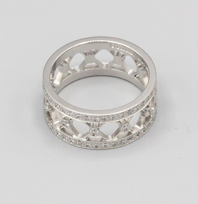 Fine platinum and diamond band ring from the
