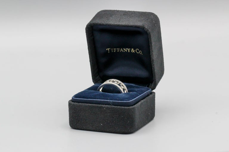 Contemporary Tiffany & Co. Voile Diamond and Platinum Band For Sale