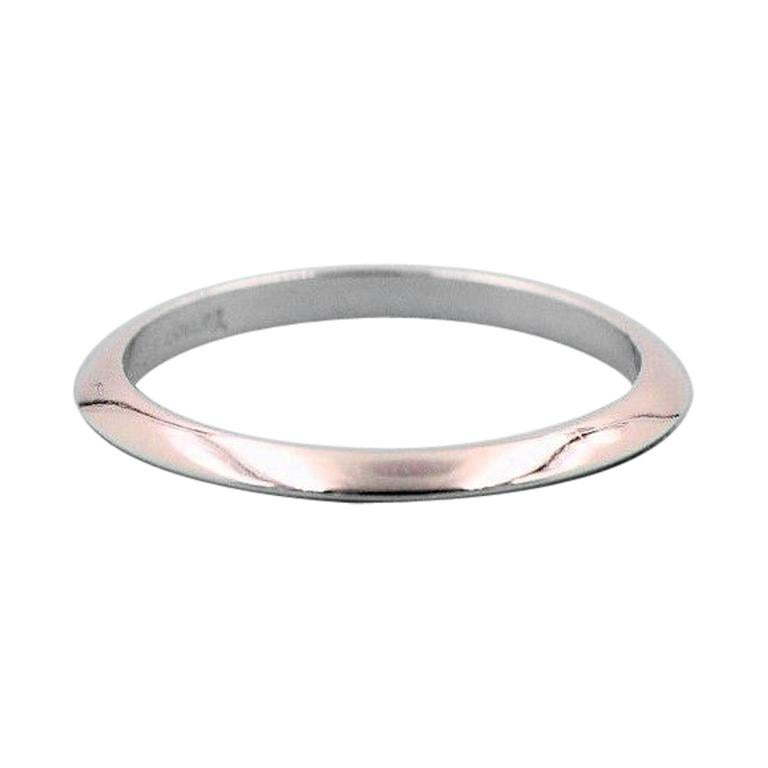 21d3e67c6 Tiffany & Co. Wedding Band Ring Knife Edge Design in Platinum 2 mm For Sale