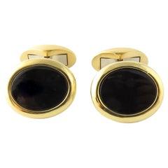 Tiffany & Co. West Germany 18 Karat Yellow Gold Black Onyx Cufflinks