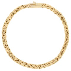 Tiffany & Co. Wheat Chain Bracelet, 18 Karat Yellow Gold Designer