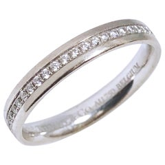 Tiffany & Co. White Gold and Diamond Eternity Band Ring