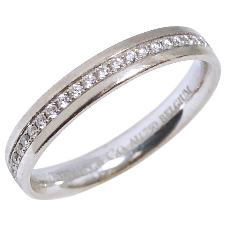 Tiffany & Co. White Gold and Diamond Eternity Band Ring For Sale