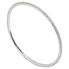 Tiffany & Co. White Gold Diamond Bangle 2.10