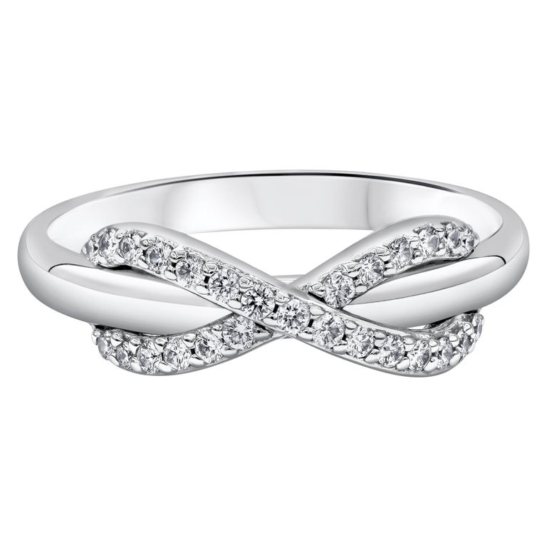 2c0477494 Tiffany and Co. White Gold Diamond Infinity Ring For Sale at 1stdibs