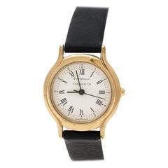 Tiffany & Co. White Gold Plated Portfolio Women's Wristwatch 25 mm