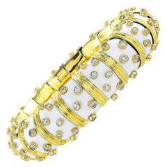 Tiffany & Co. White Schlumberger Bangle with Diamonds