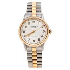 Tiffany & Co. White Steel CT60® 3-Hand Automatic Women's Wristwatch 34mm