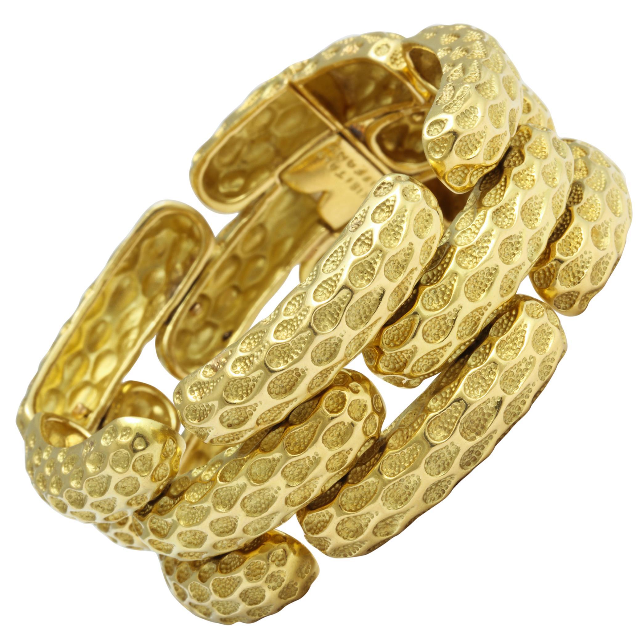 Tiffany & Co. Wide Gold Link Bracelet